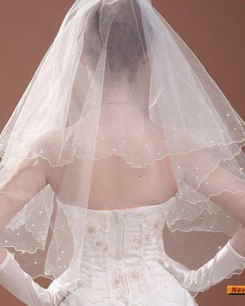 Свадебная Фата с Бусинами
