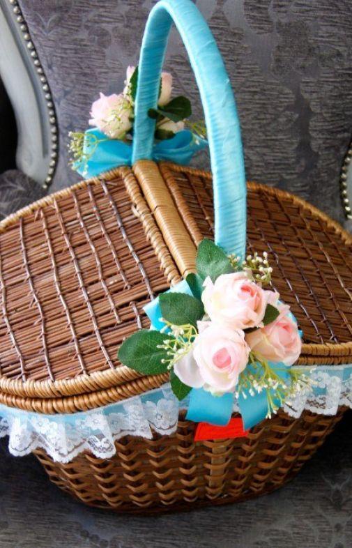 Свадебная корзина для подарков